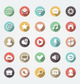 application web icons set in flat design vector image vector image