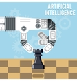 Artificial intelligence technology Robot hand vector image vector image
