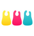 baby bibs set isolated on white background vector image vector image
