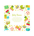 baframe square shape with place for text and vector image vector image