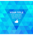 Blue Geometric Presentation Background for your de vector image