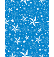 Blue seamless pattern background with snowflakes vector image
