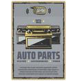 car auto parts retro poster vector image
