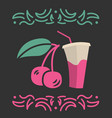 cherry juice banner or menu vector image vector image