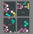 colorful retro templates set vector image vector image