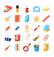 Colorful Stationery Icons Set vector image