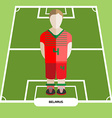 Computer game Belarus Football club player vector image vector image