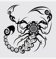 decorative scorpion vector image vector image