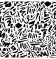 doodle shapes and lines seamless pattern vector image