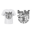 duck hunting t-shirt print mockup sport club vector image vector image