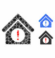 exclamation building composition icon spheric vector image vector image