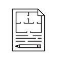floor plan linear icon vector image