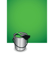 green paint pot background vector image vector image