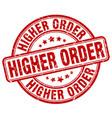 higher order red grunge stamp vector image vector image