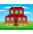 House on nature vector image vector image