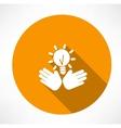 idea in hands icon vector image vector image