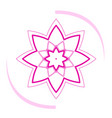 isolated lotus icon vector image vector image