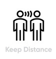 keep distance protection measures icon editable vector image vector image