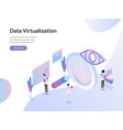 landing page template data virtualization vector image