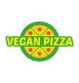 logo pizza vector image vector image