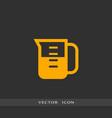 measuring cup icon simple vector image vector image