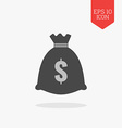 Money bag icon Flat design gray color symbol vector image vector image