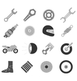 Motorcycle icon set vector image vector image