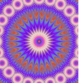 Multicolored abstract mandala ornament background vector image vector image