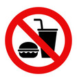 no food and no drinks allowed vector image vector image