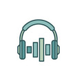 on-ear headphones with equalizer icon vector image