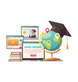 online education composition vector image