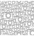 photographic camera seamless pattern vector image vector image