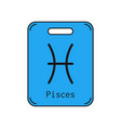 pisces sign of the zodiac flat symbol horoscope vector image vector image