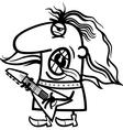 rockman cartoon coloring page vector image