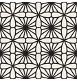 Seamless Black and White Mosaic Lattice vector image vector image