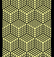 seamless geometric 3d pattern vector image vector image