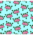 seamless wallpaper pink roses vector image vector image