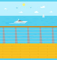 seascape coastal relaxation resort in summer vector image vector image