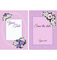 set invitation cards with flowers vector image