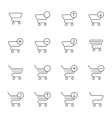 set of icons shopping cart vector image