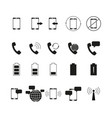 set of telephone bussines icons vector image vector image