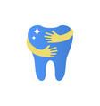 shining teeth logo sign vector image
