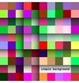 Simple background of colored squares and shadows vector image vector image