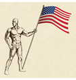 sketch a flag bearer vector image vector image