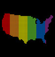 spectrum dotted lgbt usa map vector image vector image