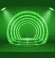 stage with lights vector image vector image