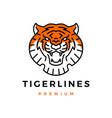 tiger head monoline logo icon vector image vector image