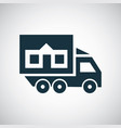 truck home icon for web and ui on white background vector image