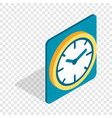 wall color clock isometric icon vector image vector image