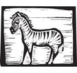 Zebra print vector image vector image